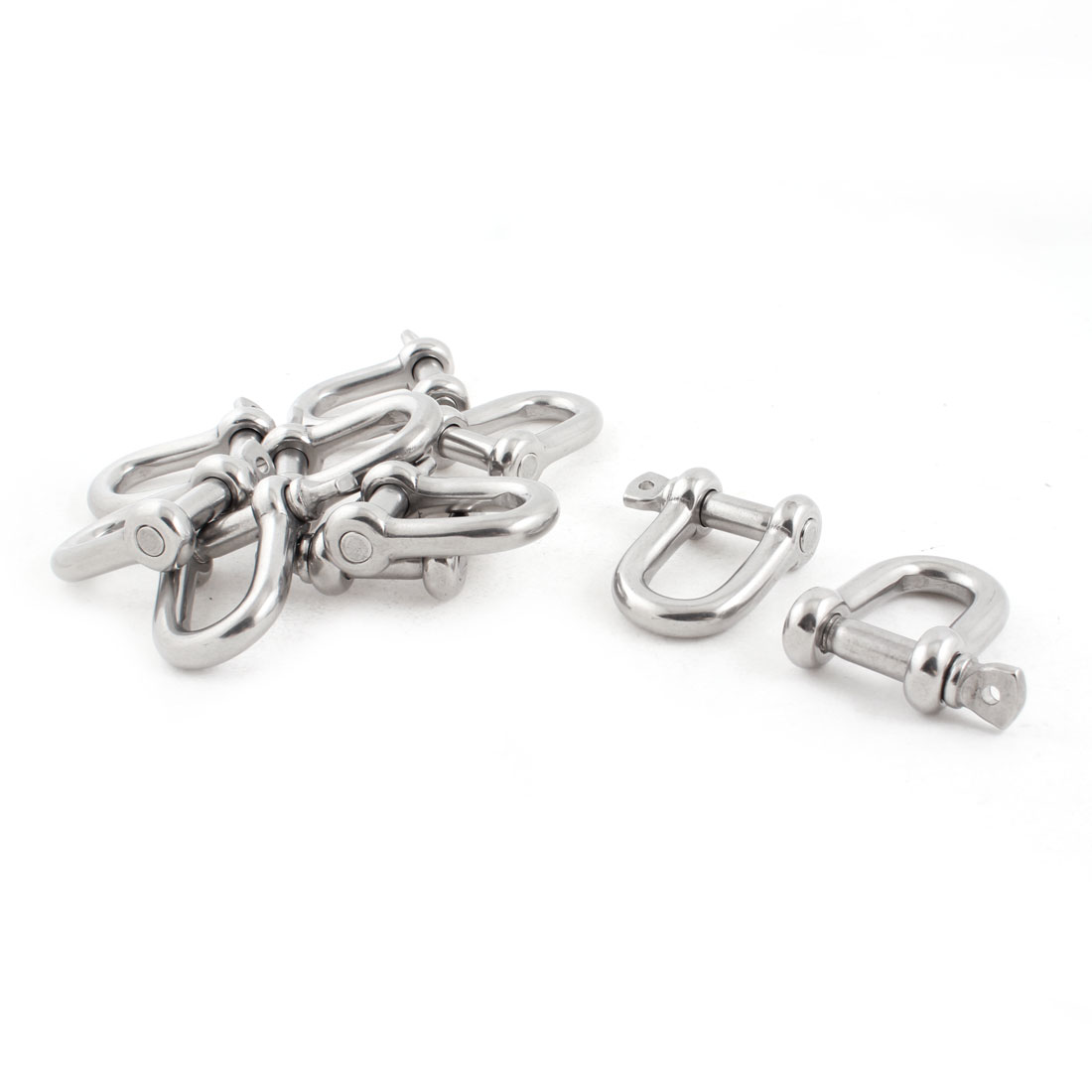 10 PCS 12mm Stainless Steel Wire Rope D Shape Shackles Fasteners