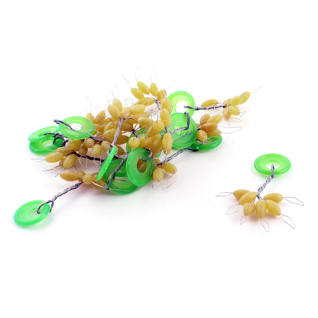 15 Pcs Oval Shape Rubber Stopper 6 in 1 Fishing Floater Bobber Sinker