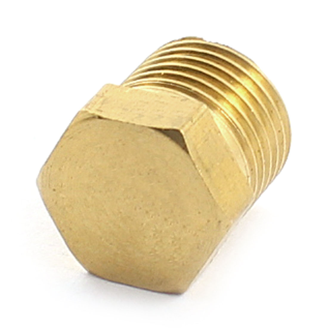 1/8PT Male Thread 11mm Height Brass Hex Socket Head Pipe Connector Coupler Coupling