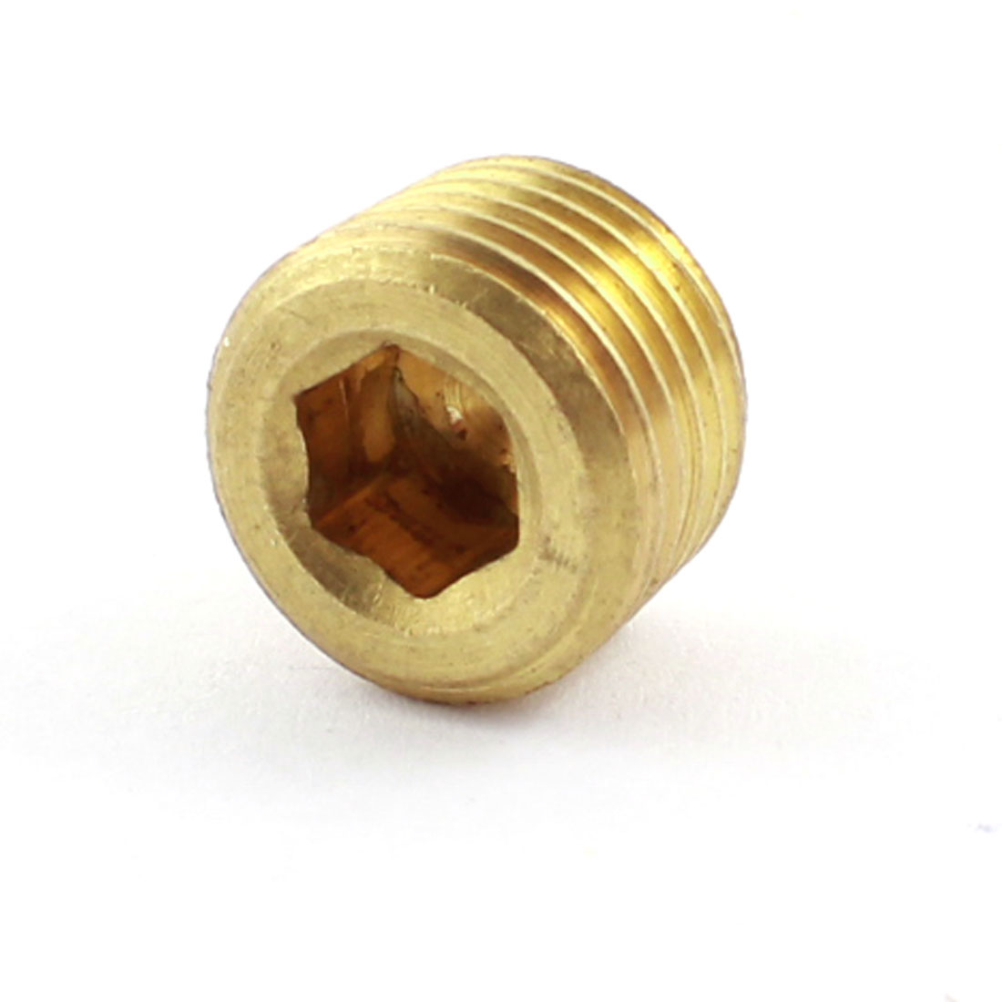 1/4PT Male Thread 9mm Height Brass Hex Head Pipe Plug Connector Fittings Coupler Coupling Adaper