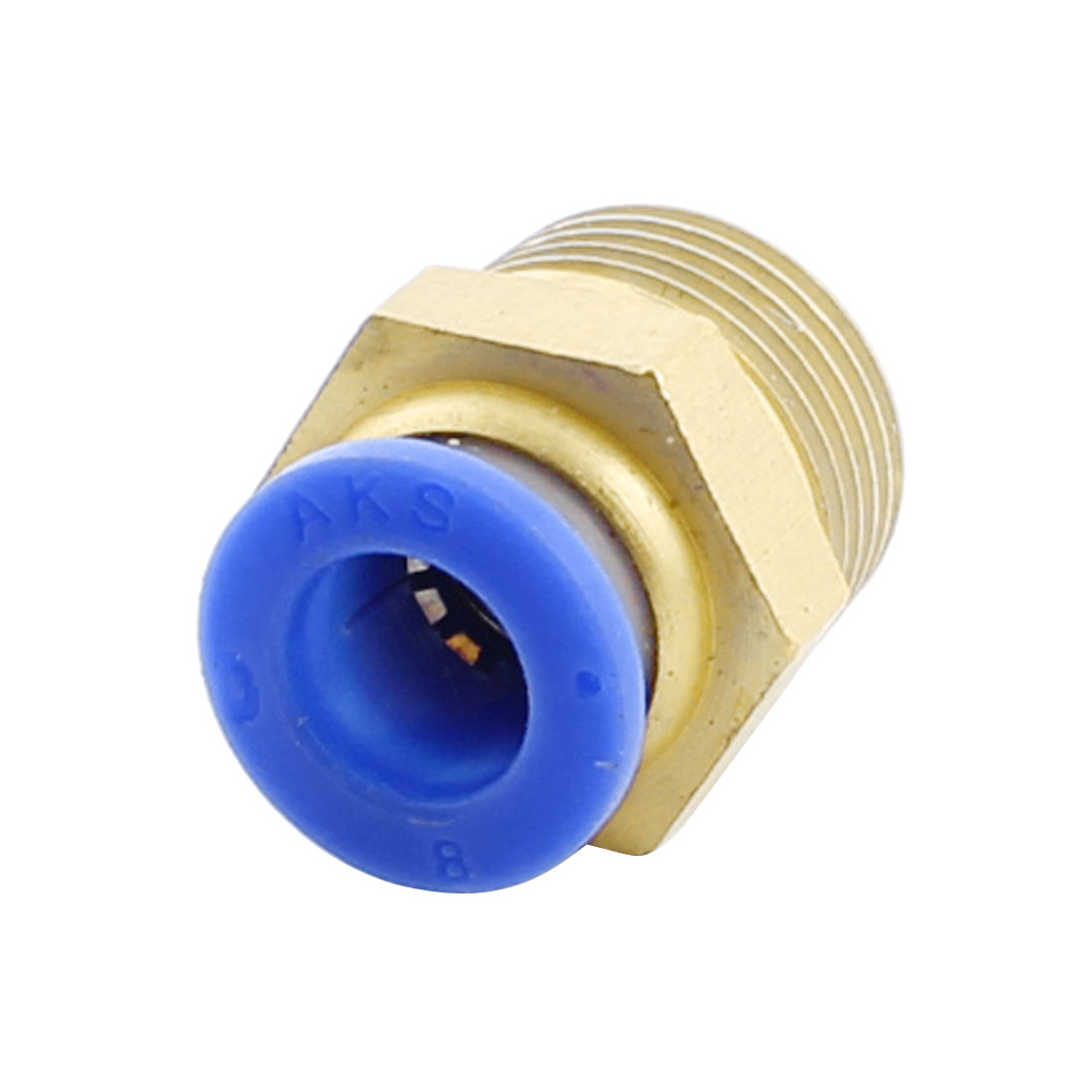 3/8PT x 8mm Pipe Hose Connector Straight Air Pneumatic Quick Coupler Coupling Fitting Joint