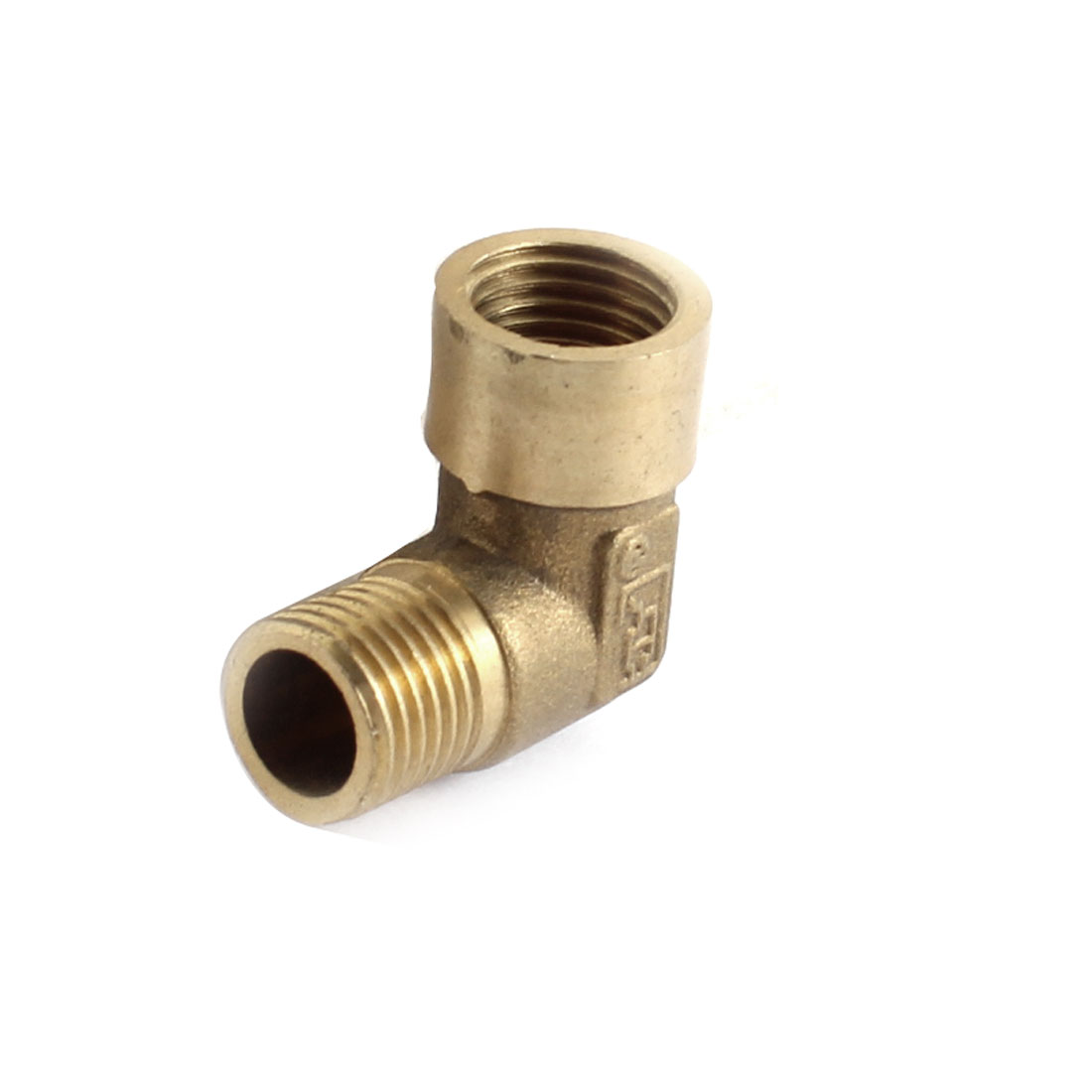 1/4PT x 1/4PT Male to Female Threaded Brass Right Angle Elbow Connector Adapter Joint for Water Fuel Pipe