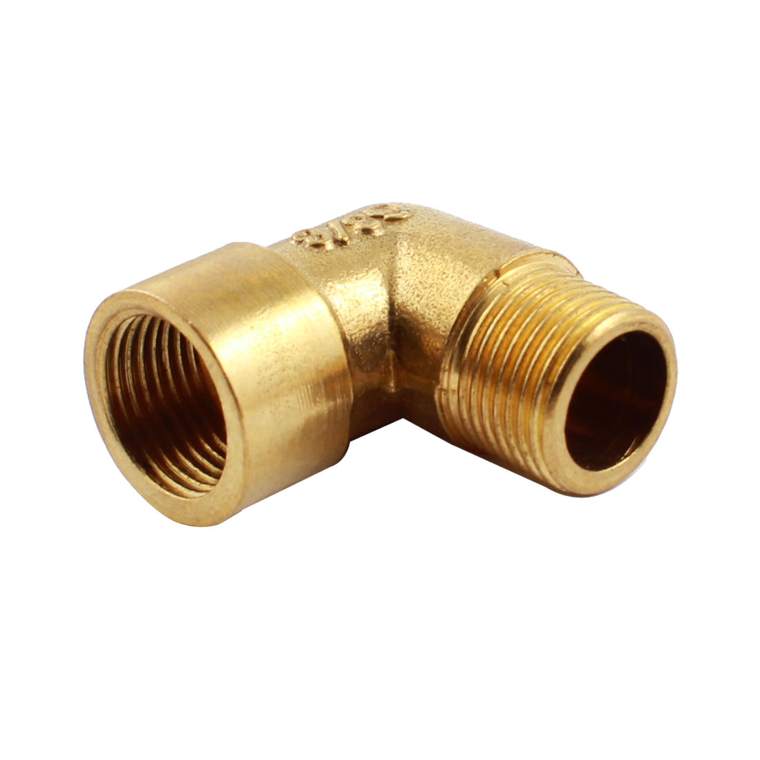 3/8PT x 3/8PT M/F Threaded Brass Right Angle Male to Female Joint Connector for Water Fuel Pipe