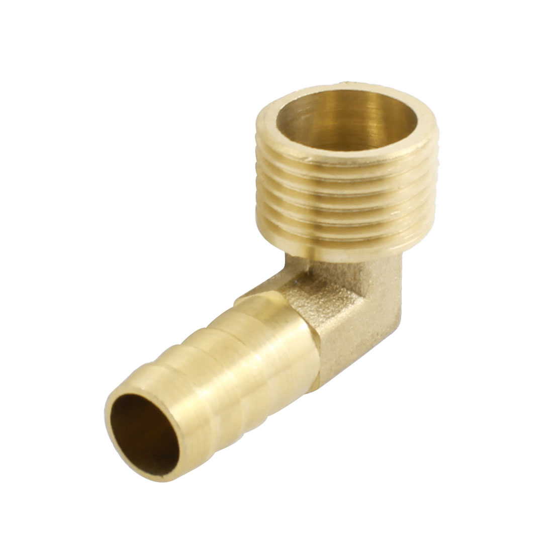 Air Pneumatic 1/2PT Male Thread 12mm Tube Dia Right Angle Barb Coupler Fitting Joint Connector