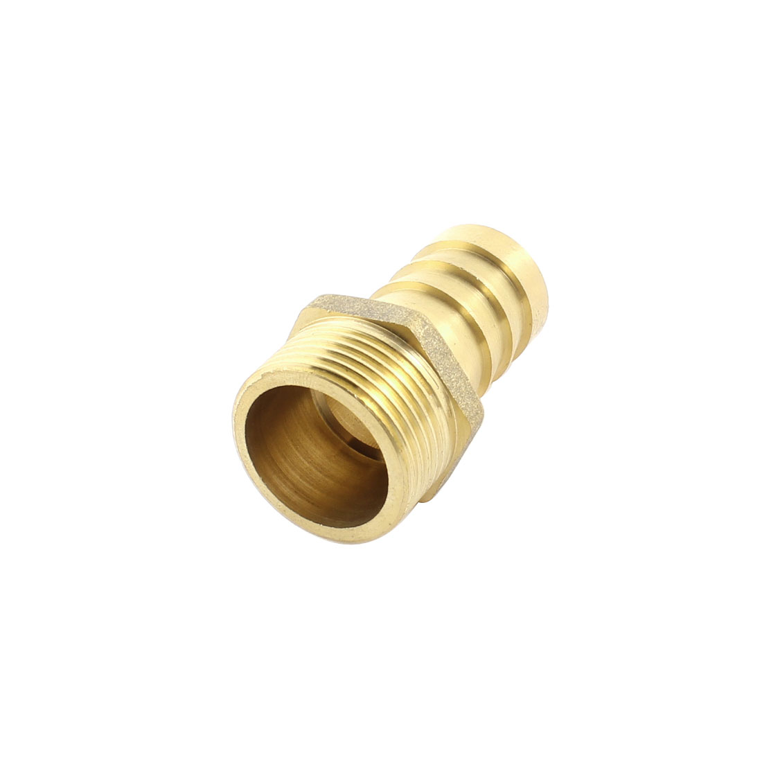 3/4PT x 20mm 2 Ways Straight Brass Pneumatic Air Hose Barb Coupler Fitting Pipe Tube Connector