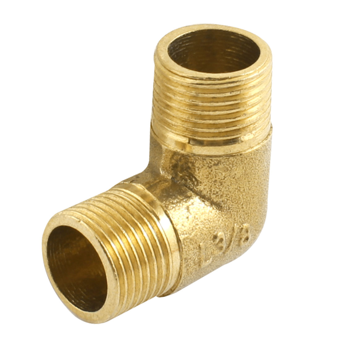 3/8PT to 3/8PT M/M Threaded Brass Right Angle Male Joint Connector for Water Fuel Pipe