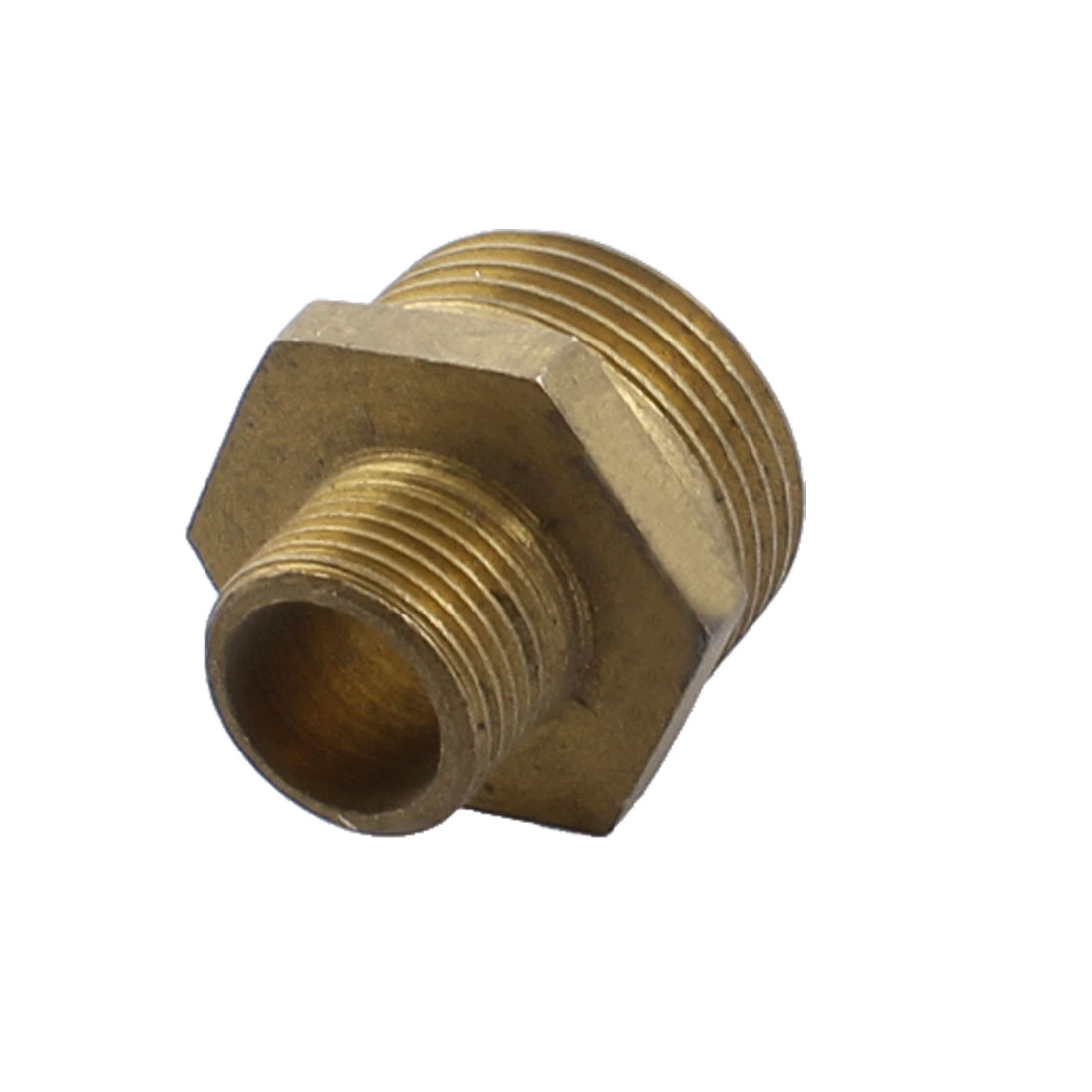 3/4PT x 3/8PT Male to Male Threaded Straight Pipe Hex Nipple Coupler Connector for Water Heating Fitting