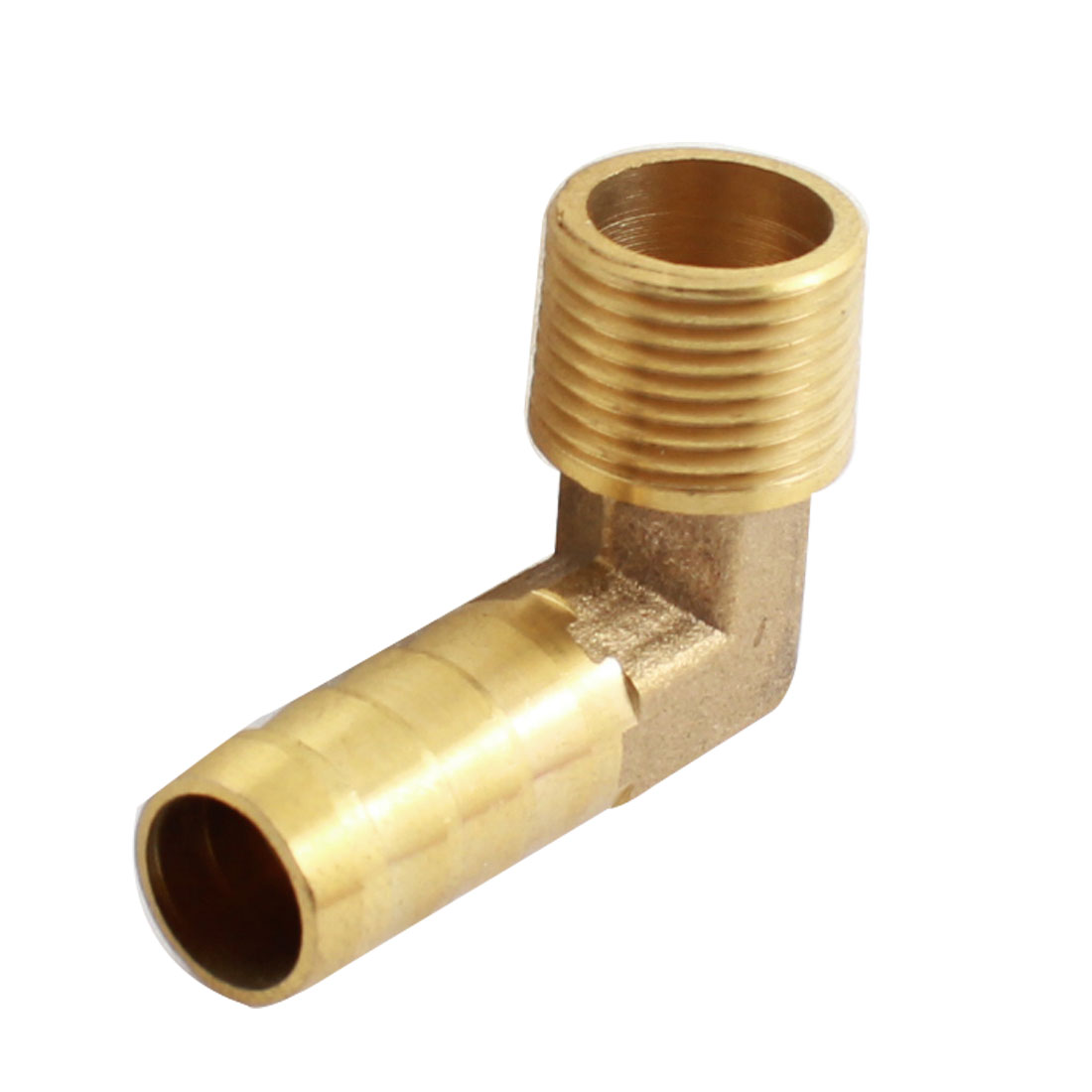 Air Pneumatic 3/8PT Male Thread 12mm Tube Dia Right Angle Barb Coupler Fitting Joint Connector