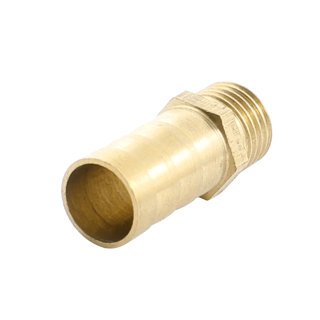 1/4PT Male Thread Double Ways Straight Brass Pneumatic Air Hose Barb Coupler Connector for 12mm Inner Dia Tube