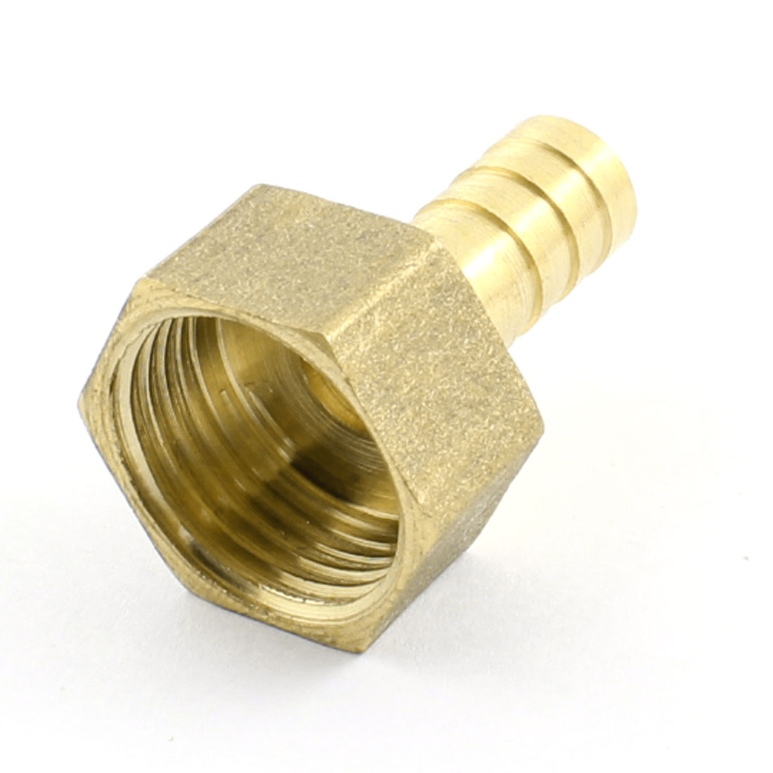 19mm 1/2PT Female Thread to 10mm Inner Dia Tube Straight Brass Pneumatic Air Hose Barb Coupler Fitting Pipe Tube Connector