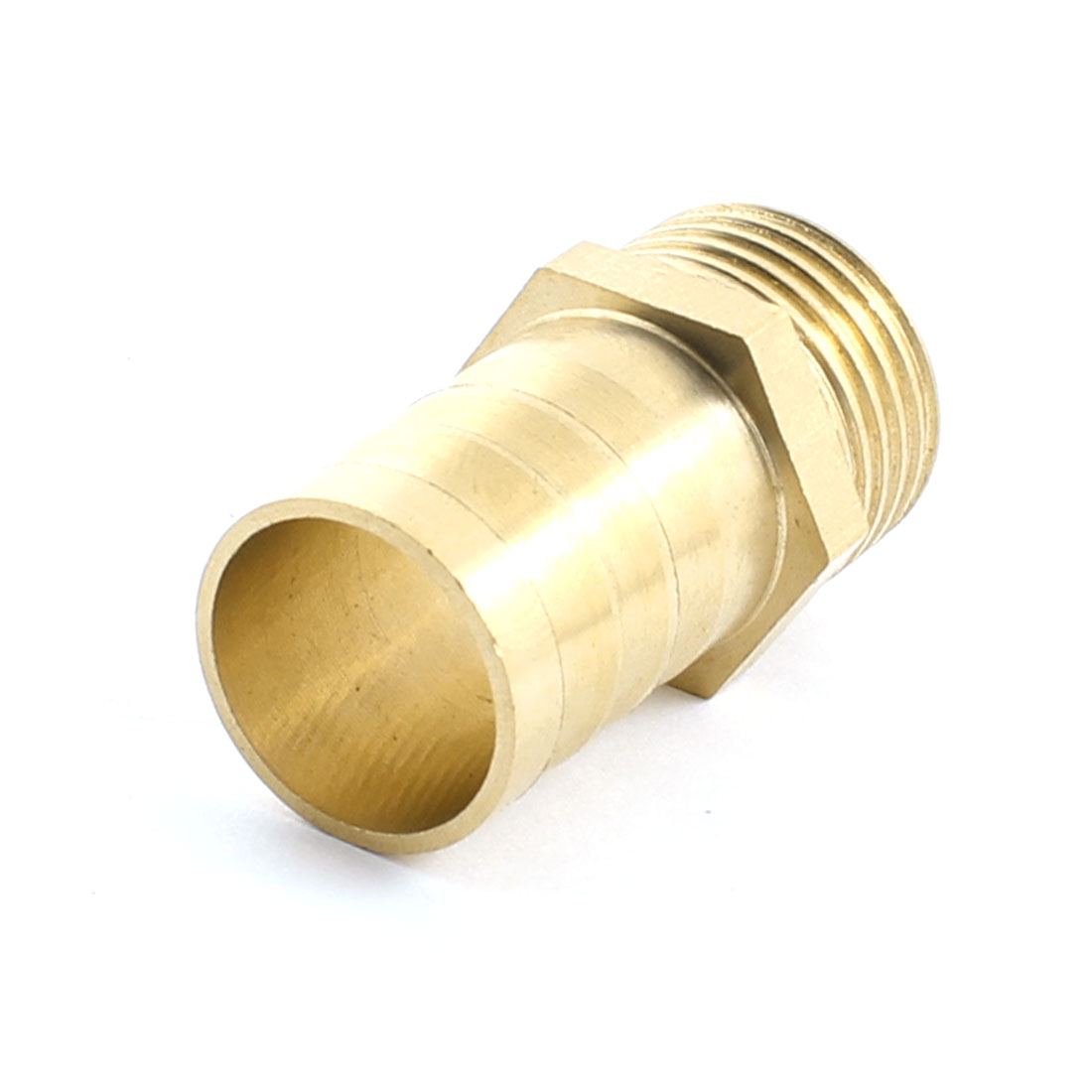 1/2PT Male Thread to 18mm Inner Dia Tube Straight Brass Pneumatic Air Hose Barb Coupler Fitting Connector