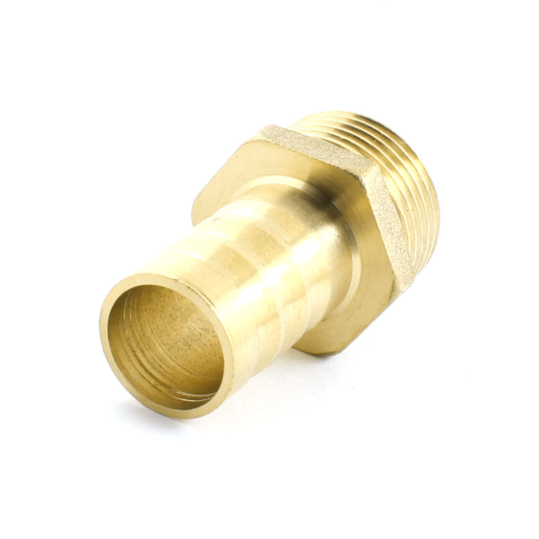 3/4PT 25mm Male Thread to 18mm Inner Diameter Pipe Straight Brass Pneumatic Air Hose Barb Coupler Fitting Connector Adapter
