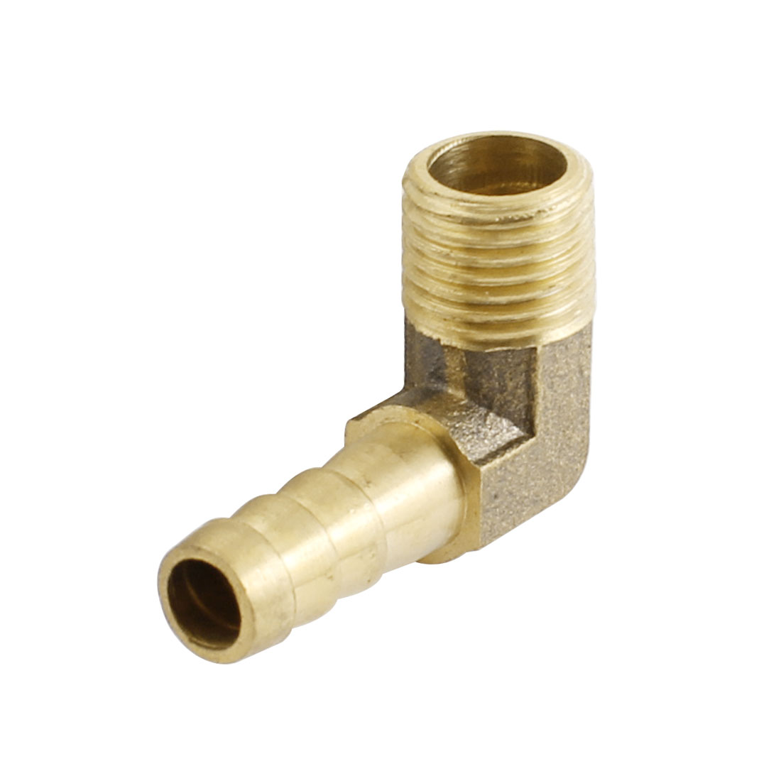 1/4PT Male Thread to 8mm Inner Dia Pipe Tube Right Angle Brass Air Pneumatic Hose Barb Coupler Fitting Connector