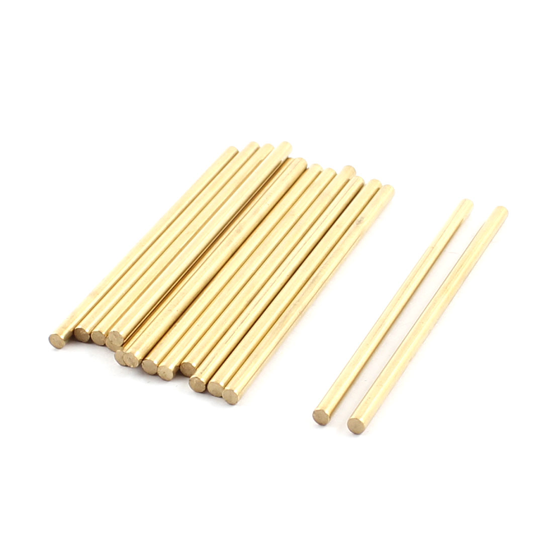 15Pcs 3mm Dia 70mm Length Brass Round Rod Shaft for RC Toy Car