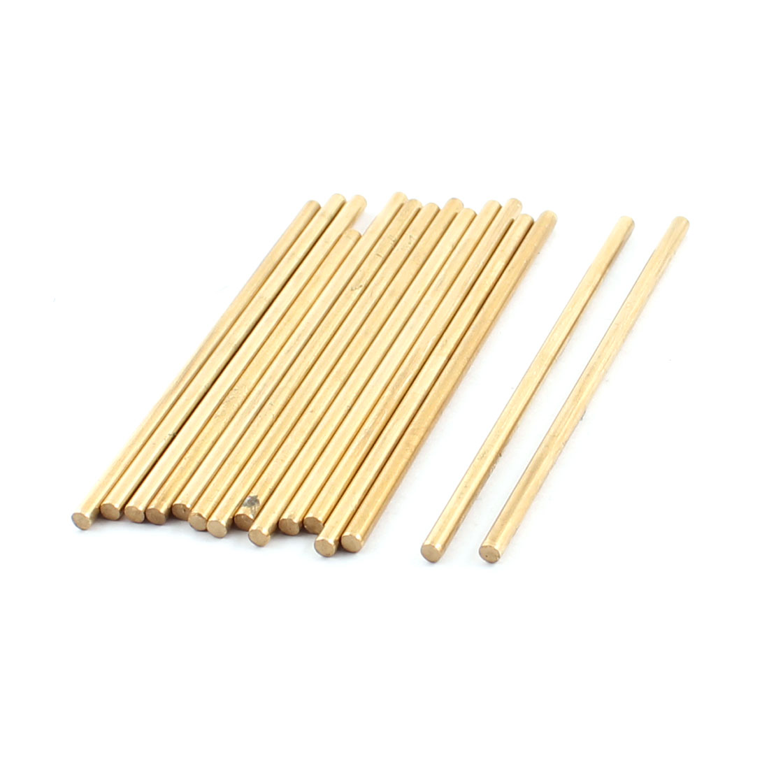 15Pcs 3mm Dia 80mm Length Brass Round Rod Shaft for RC Toy Car