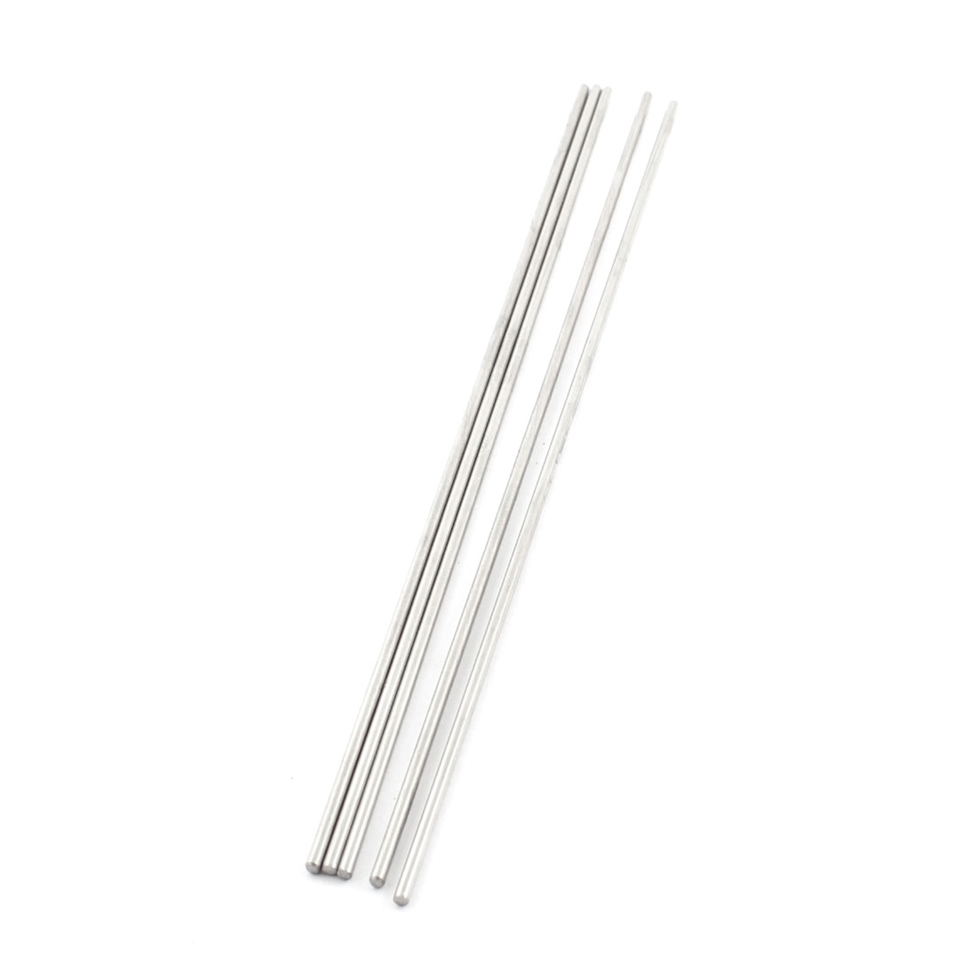 5Pcs 2mm Dia 180mm Length Stainless Steel Round Rod Shaft for RC Toy Car