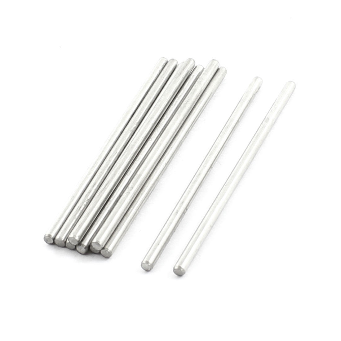 "10Pcs 2mm Diameter Stainless Steel Motion Axle Circular Round Rod Bar 2"" Long"