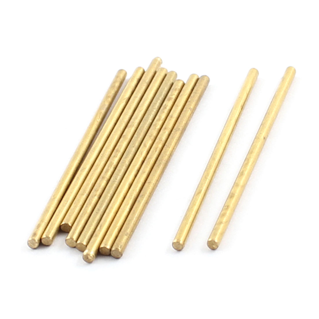 10Pcs 2mm Dia 50mm Length Brass Round Rod Shaft for RC Toy Car