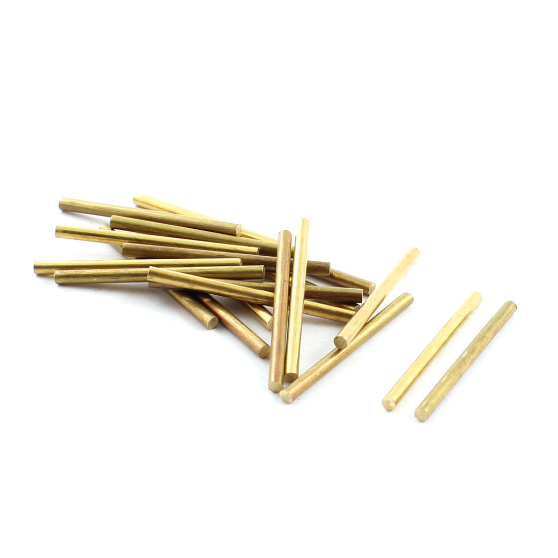 20Pcs 3mm Dia 30mm Length Brass Round Rod Shaft for RC Toy Car
