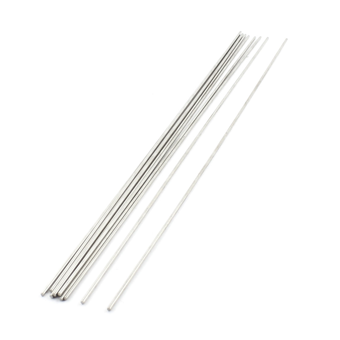 10Pcs 2mm Dia 350mm Length Stainless Steel Round Rod Shaft for RC Toy Car