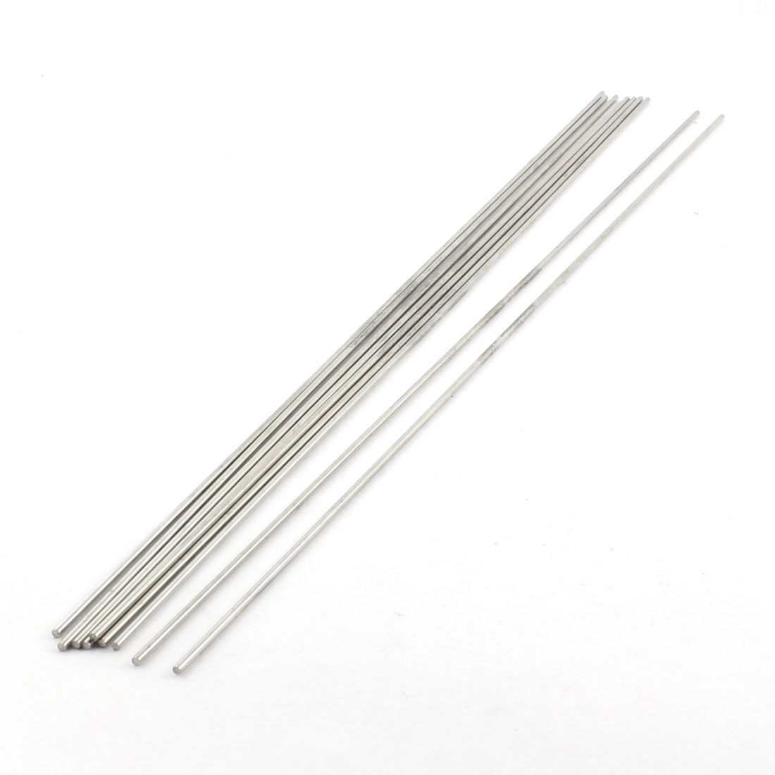 9Pcs 2mm Dia 350mm Length Stainless Steel Round Rod Shaft for RC Toy Car