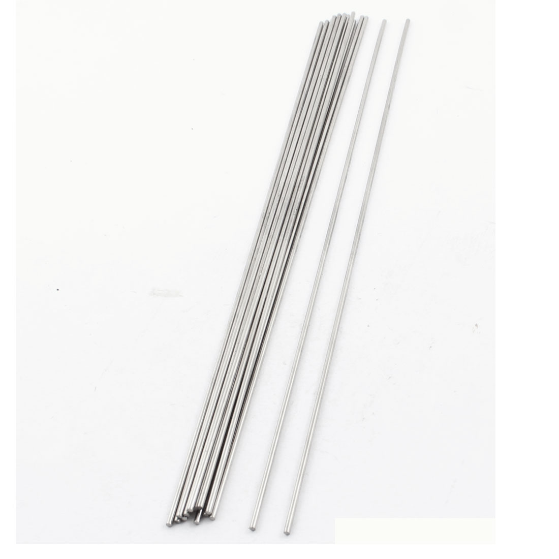 15Pcs 2mm Dia 250mm Length Stainless Steel Round Rod Shaft for RC Toy Car