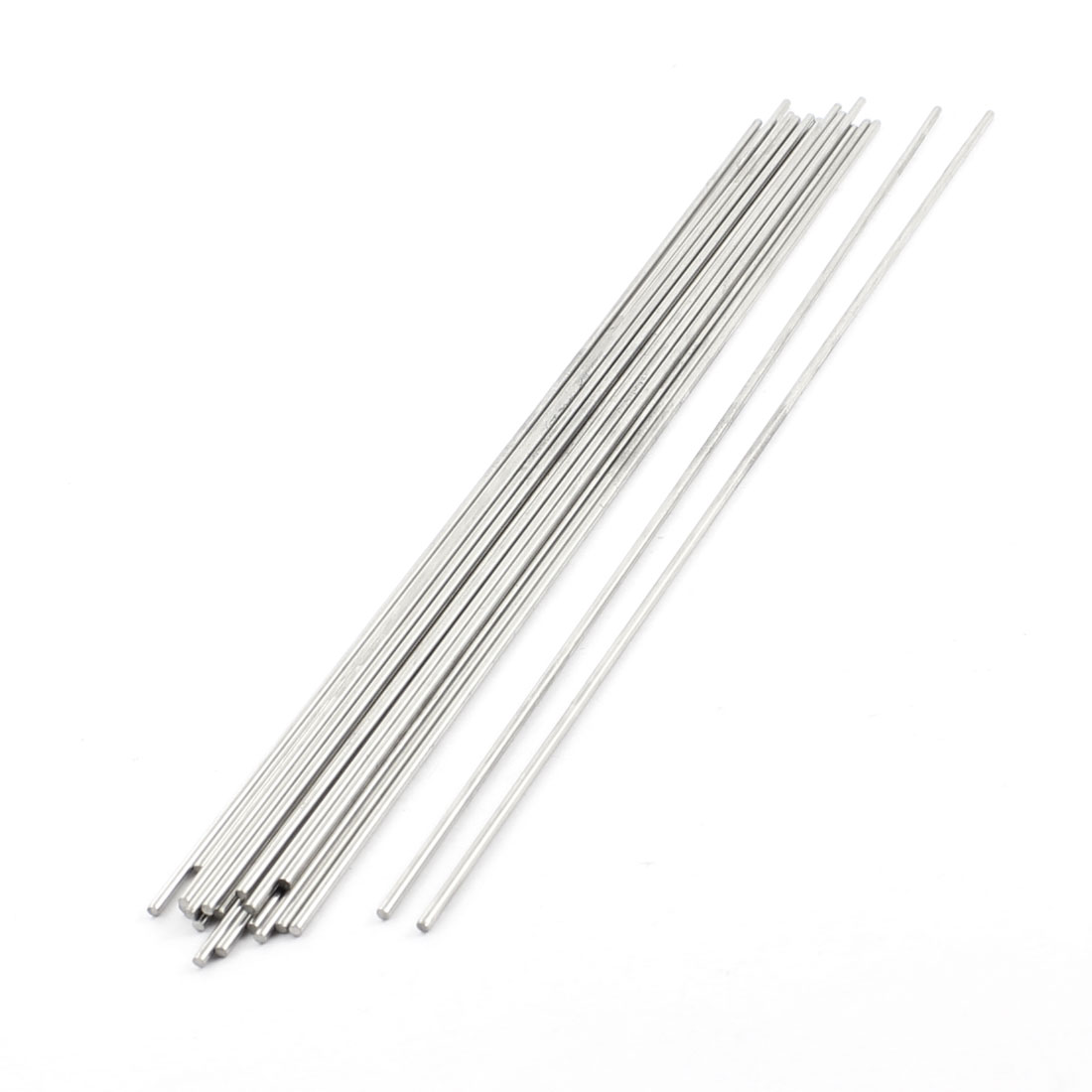 20Pcs 2mm Dia 250mm Length Stainless Steel Round Rod Shaft for RC Toy Car
