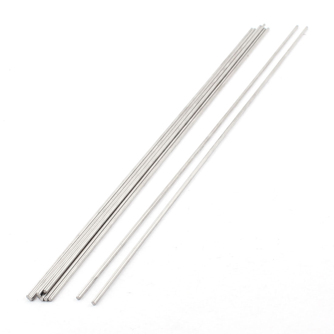 10Pcs 2mm Dia 300mm Length Stainless Steel Round Rod Shaft for RC Toy Car