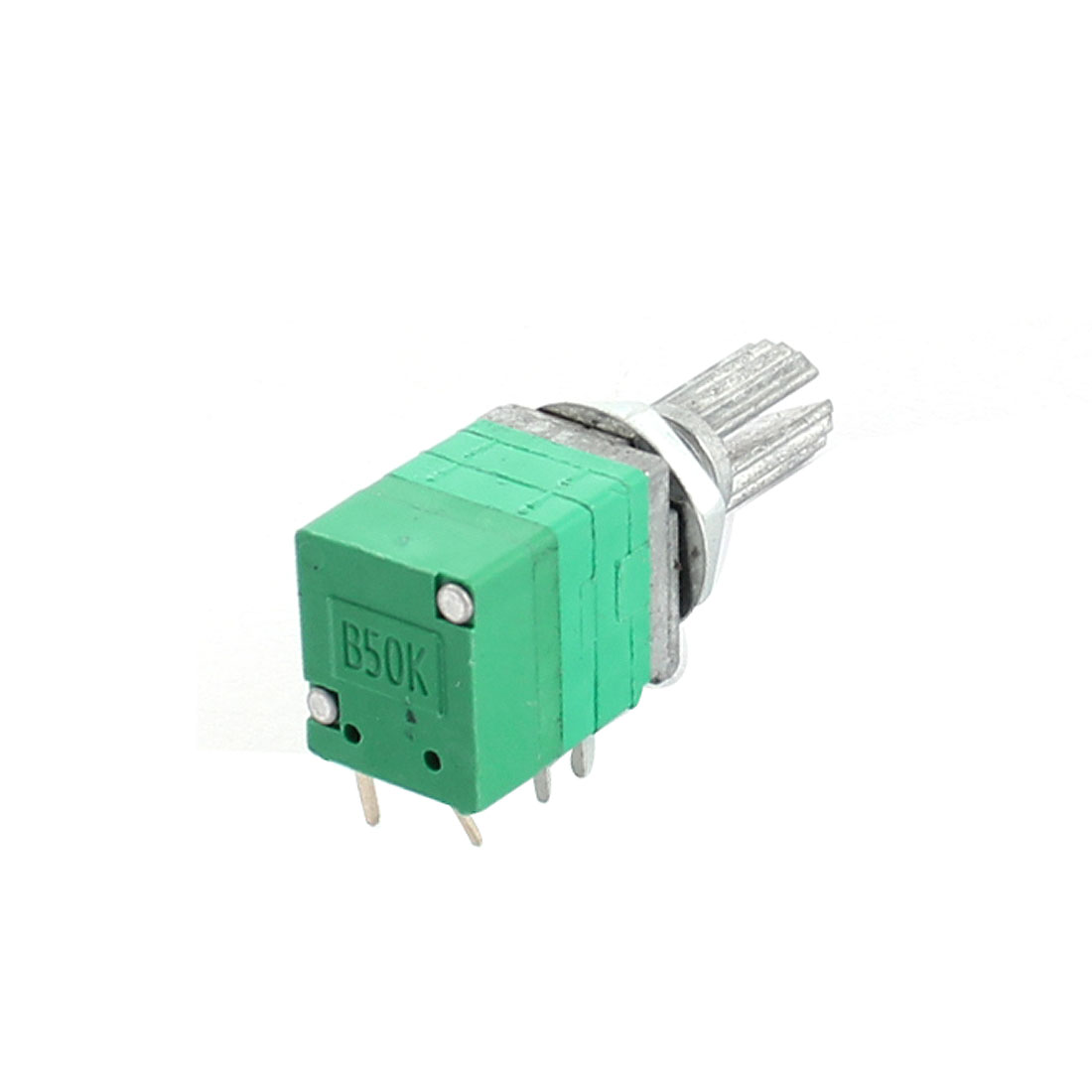 B50K 50K Ohm 6mm Knurled Shaft 7mm Thread 8Pin Through Hole Mount Rotary Adjustable Potentiometer Switch