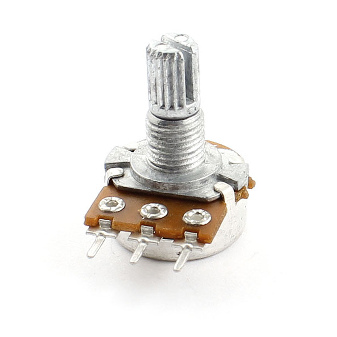 B10K 10K Ohm 6mm Dia Knurled Shaft 7mm Thread 3Pin Through Hole Mount Linear Type B Rotary Taper Potentiometer