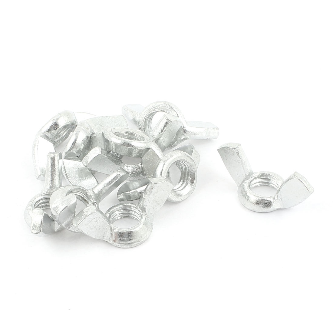 10 Pcs Silver Tone Metal Quick-Release Wingnut M12 12mm