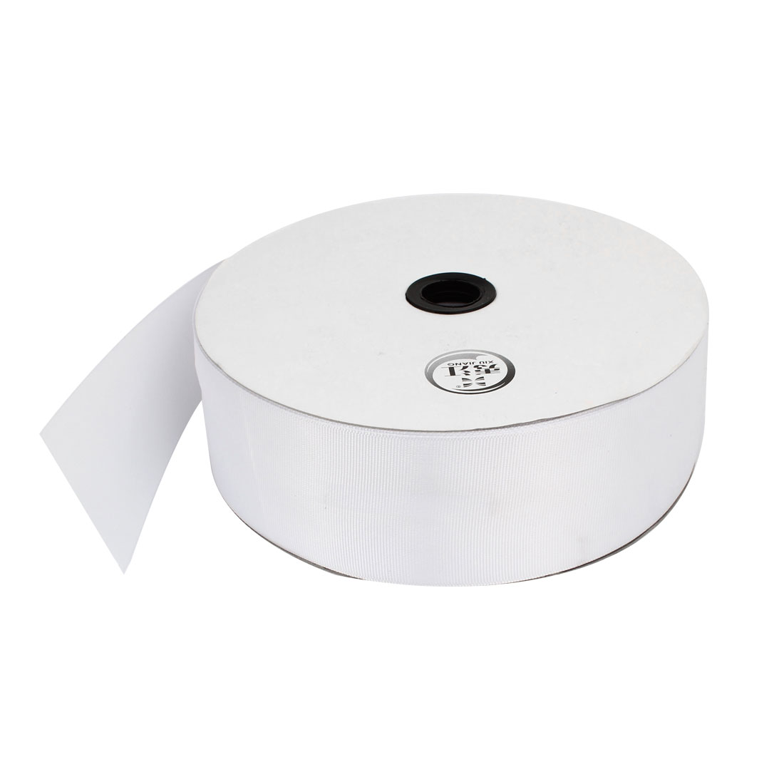4.9cm Width DIY Packing Polyester Grosgrain Ribbon Roll White 100 Yard