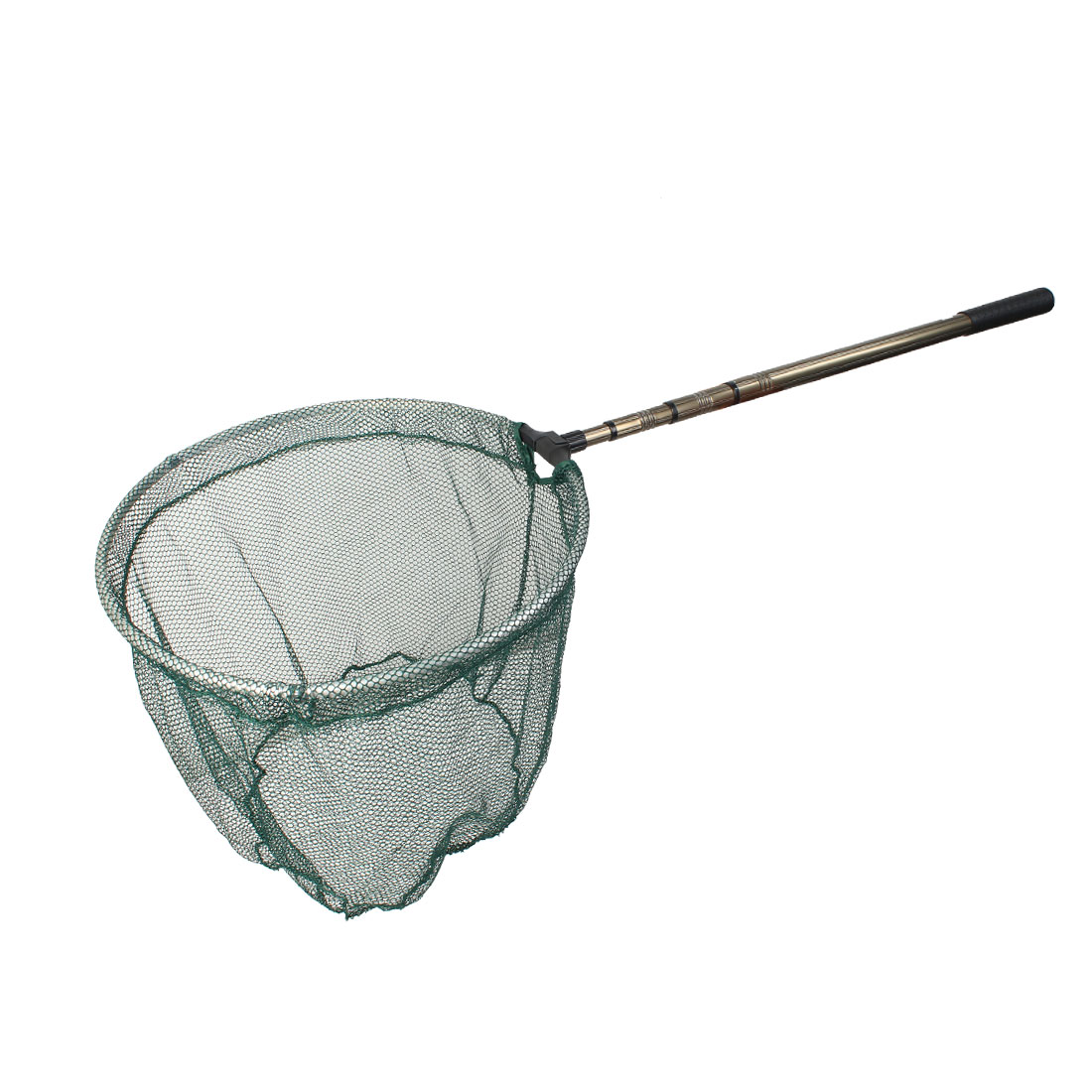 "15"" Hoop 4 Sections Telescoping Aluminium Handle Folding Fishing Landing Dip Net"
