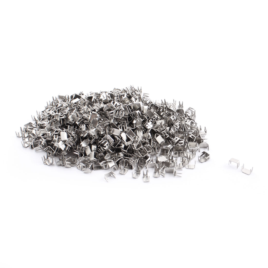 Zipper Slider Replacement Repairing Parts Bottom Stopper Stop Kit Silver Tone 500 Pcs