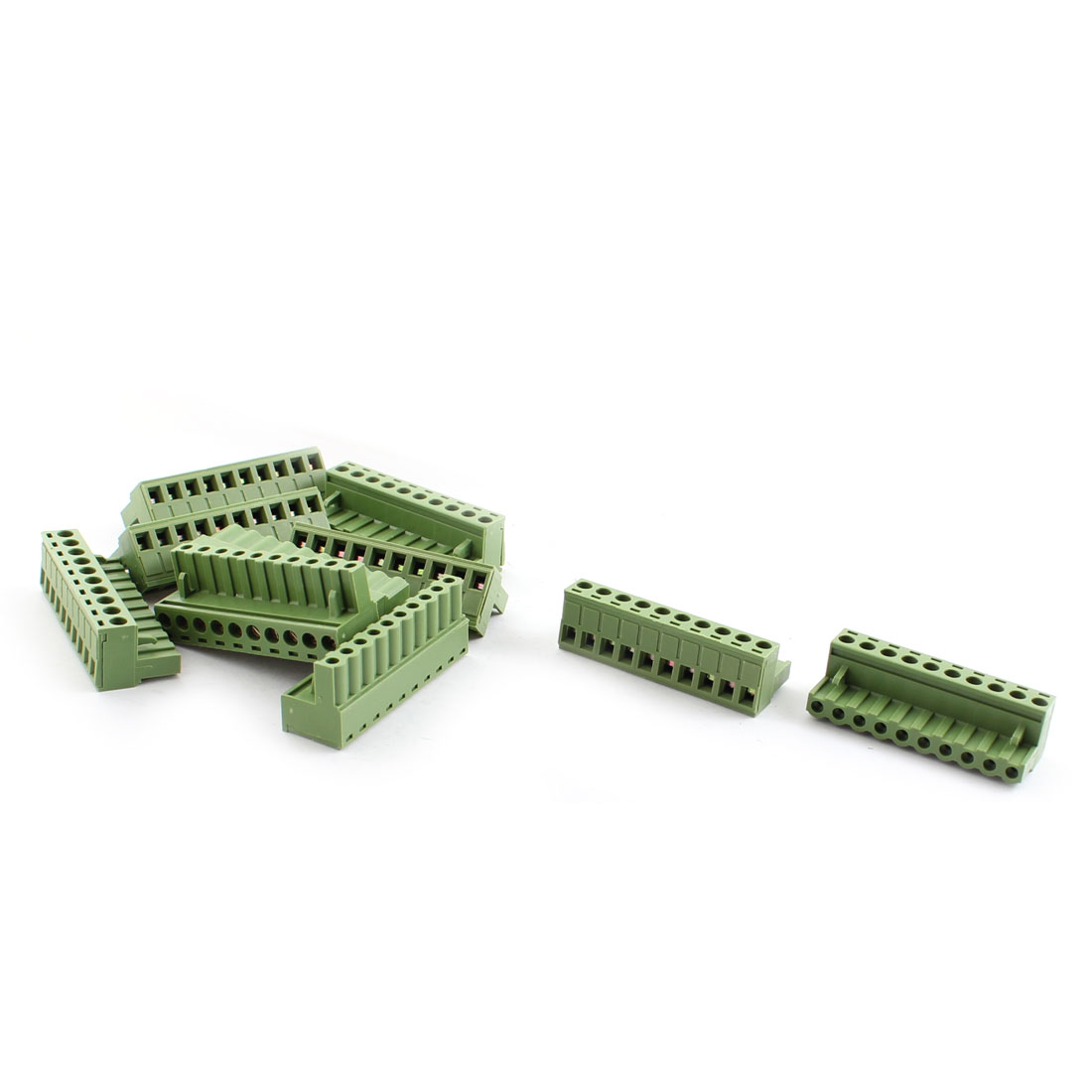 10 Pcs 5.08mm Pitch 10Pin 90 Degree Pluggable in PCB Mount Screw Terminal Block Connector 300V 10A