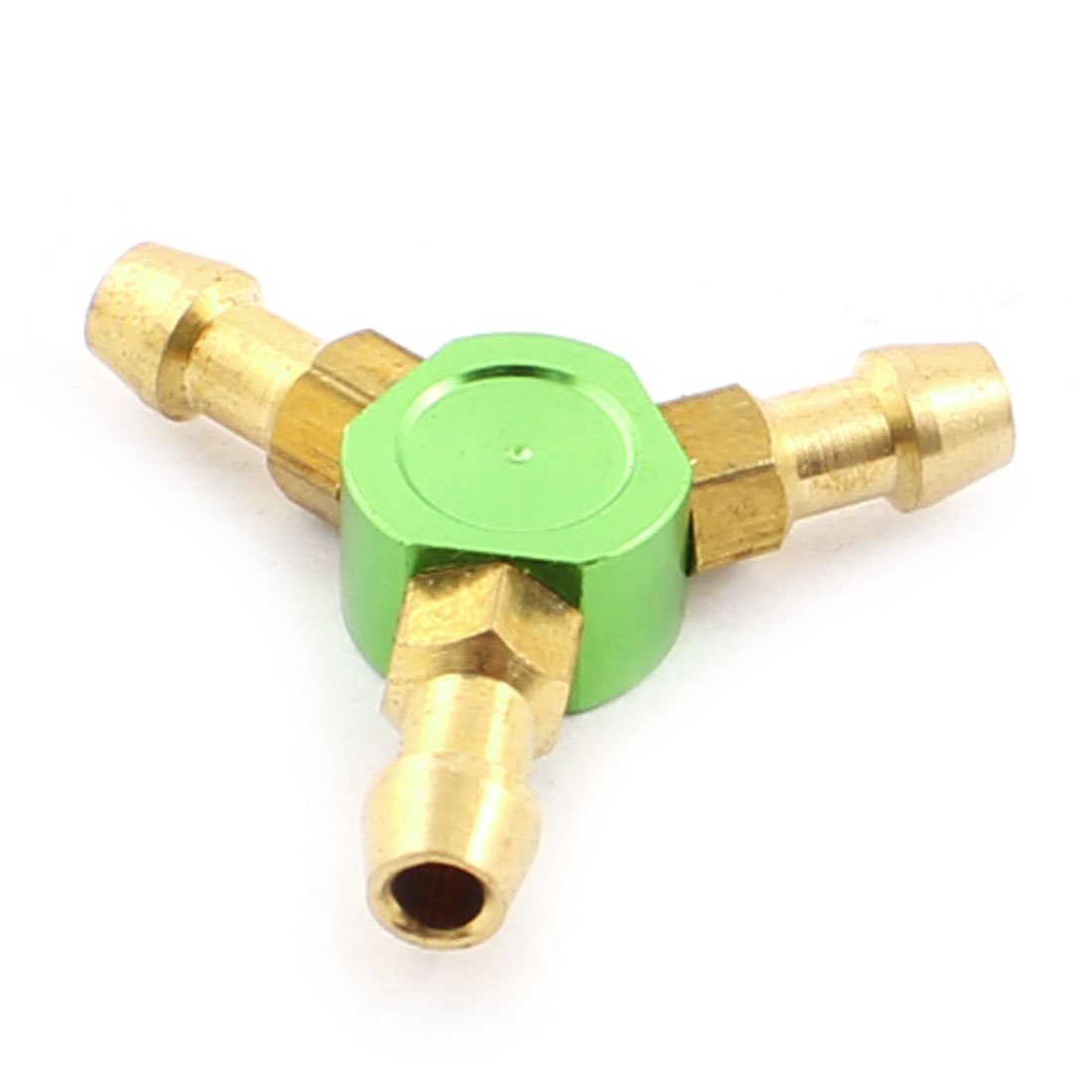 2.5mm x 3.5mm x 21mm Green Y-Shaped Water Fuel Air Splitter for RC Boat