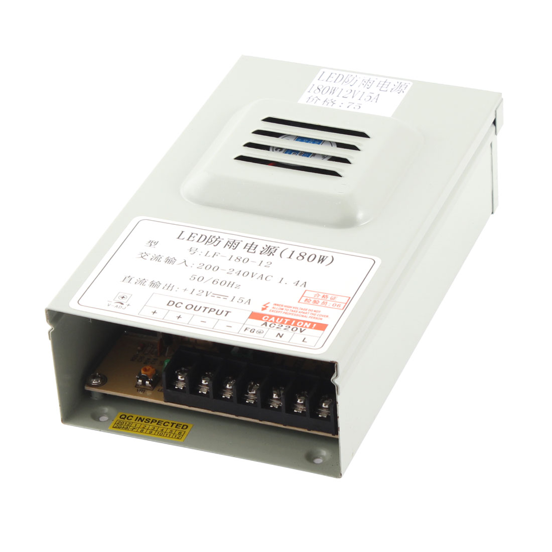 AC 200-240V to DC 12V 15A 180W Switching Power Supply for LED Strip Light