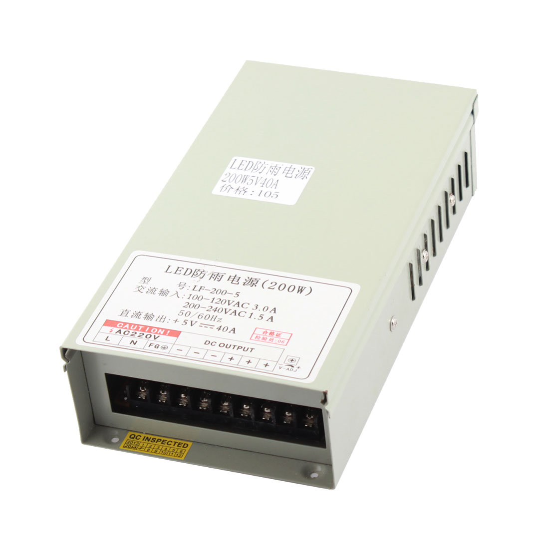 AC 100-120V to DC 5V 40A 200W Switching Power Supply for LED Strip Light