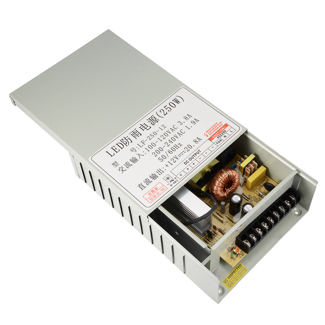 AC 100-120V to DC 12V 20.8A 250W Switching Power Supply for LED Strip Light