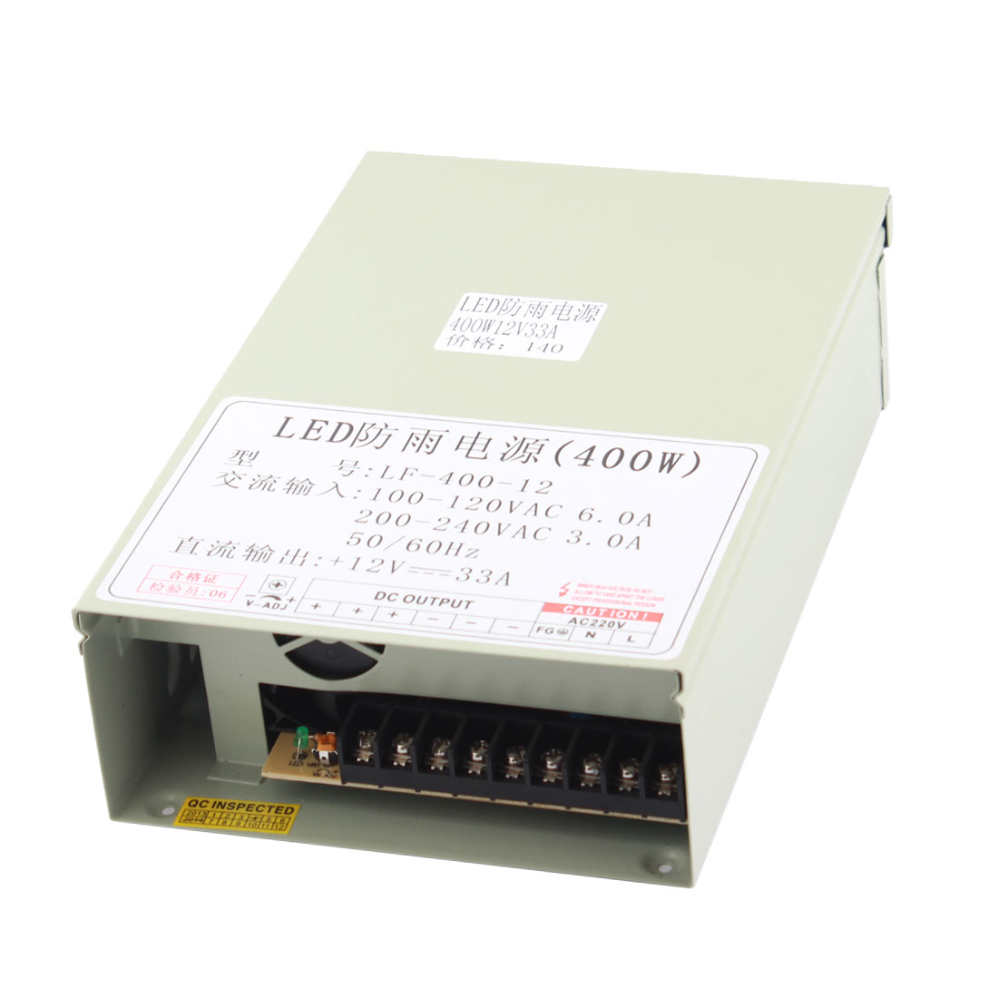 AC 100-120V to DC 12V 33A 400W Switching Power Supply for LED Strip Light