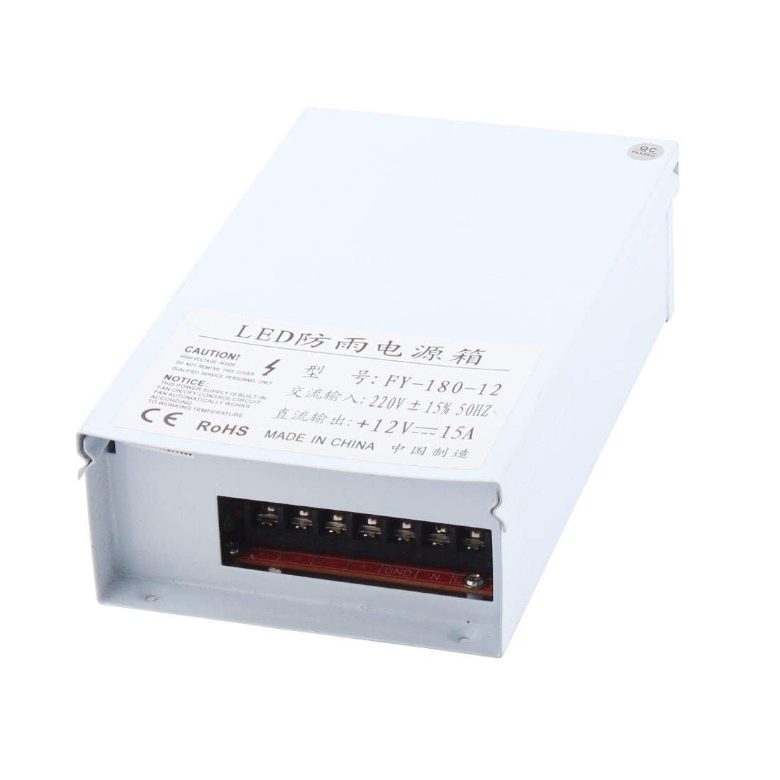 AC 220V to DC 12V 15A 180W Switching Power Supply for LED Strip Light