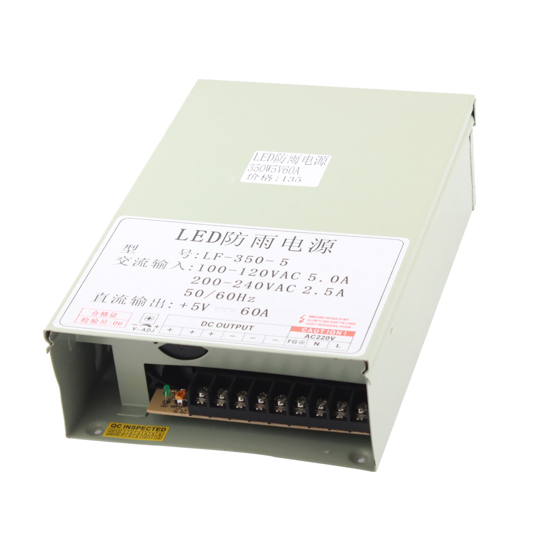 AC 100-120V to DC 5V 60A 350W Switching Power Supply for LED Strip Light