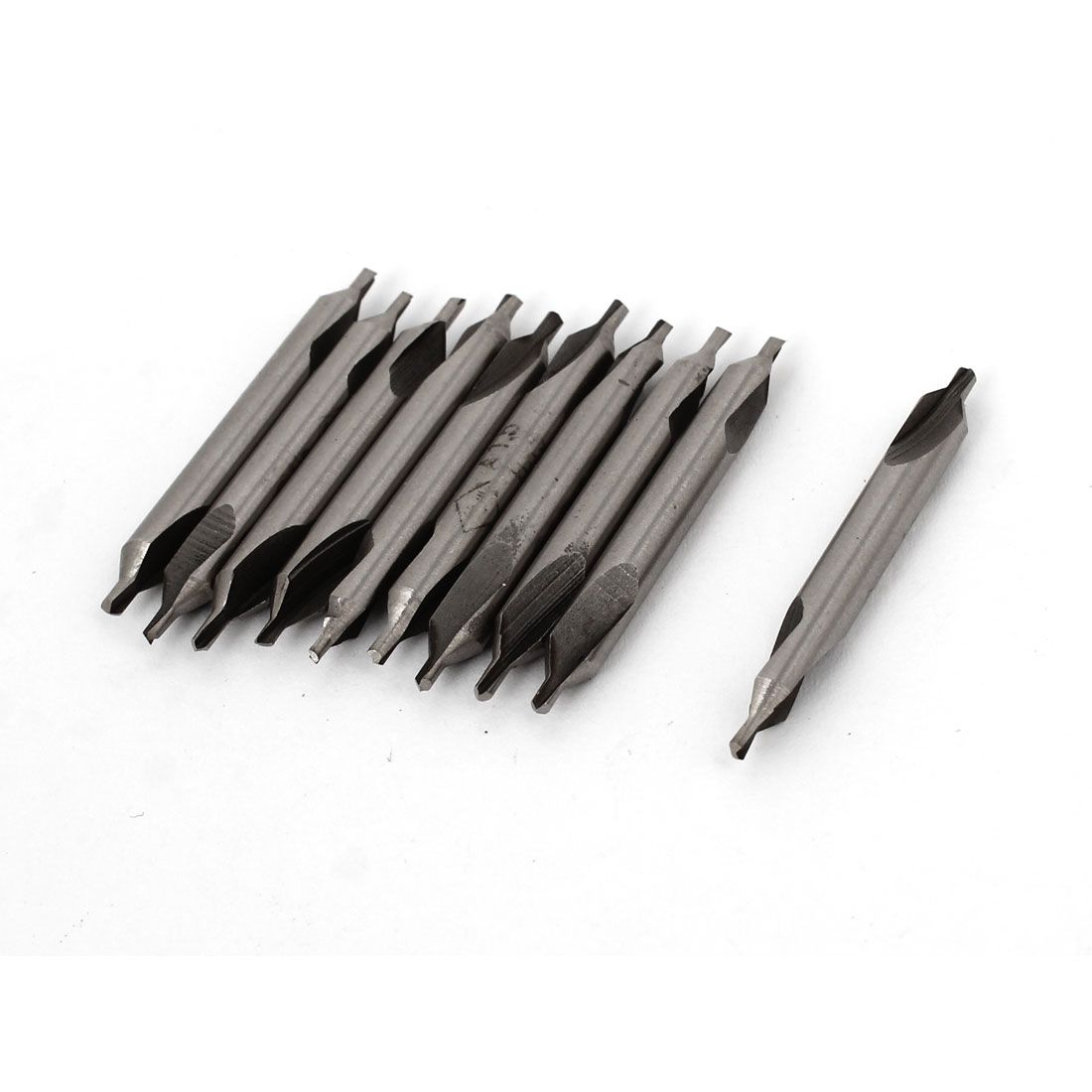 10 Pcs HSS 4mm Shank 1.5mm Dia Tip Double Ended Center Drill Bit