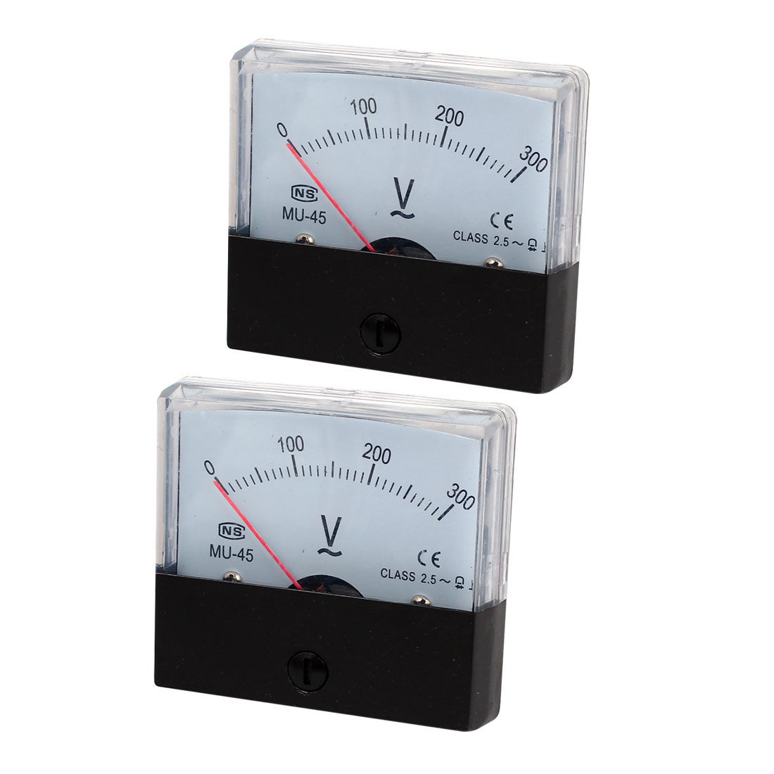 AC 0~300V Class 2.5 Voltmeter Analog Volt Panel Meter MU-45 2 Pcs