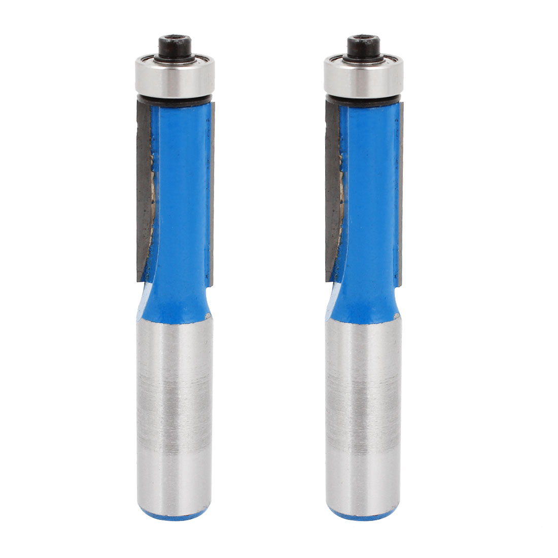 "1/2"" Cutting Dia 1/2"" Shank End Bearing Flush Trim Router Bit 2 Pcs"