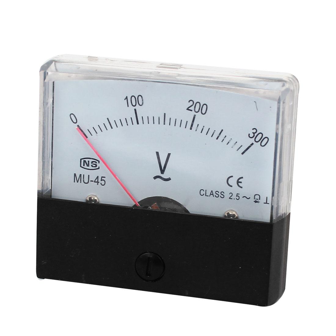 MU-45 Fine Tuning Dial Analog Volt Panel Meter Gauge AC 0-300V