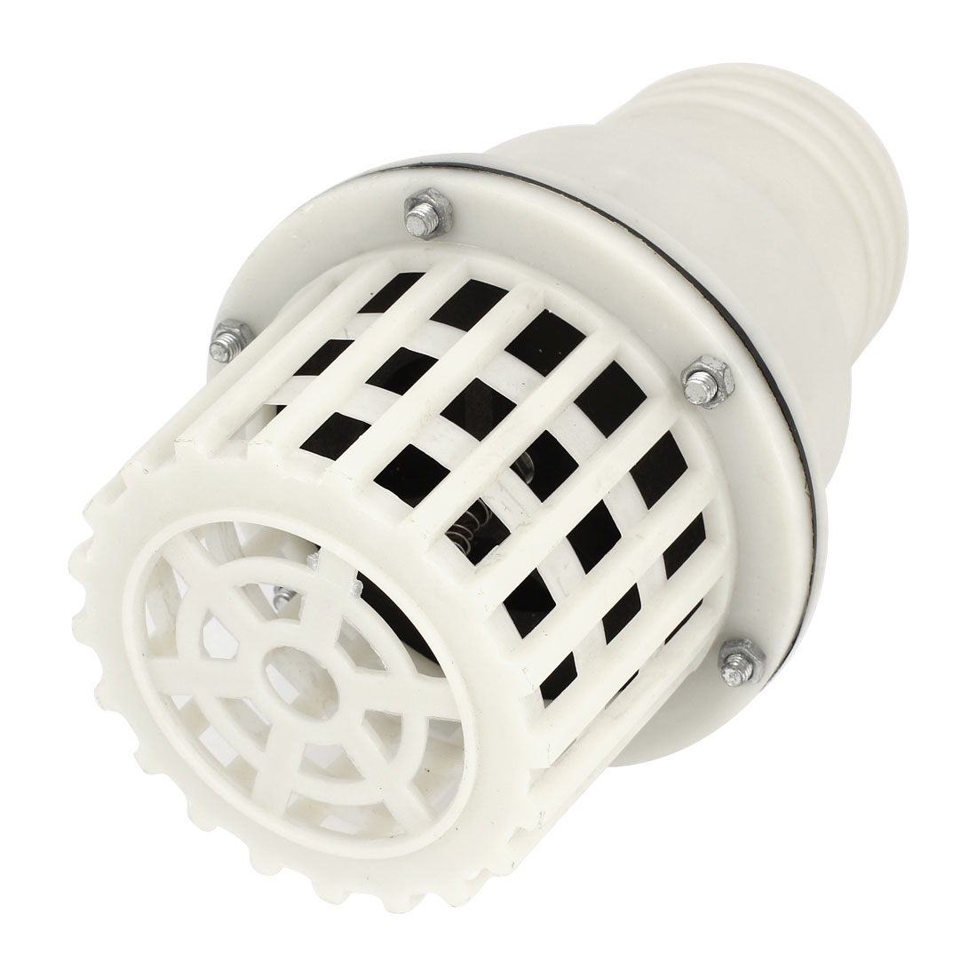 "White 74mm 3"" Outside Connecting Dia PVC Foot Bottom Valve"