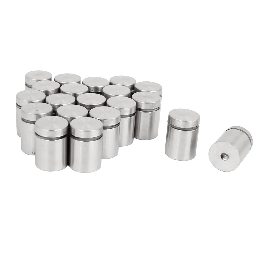 20 Pcs 19 x 25mm Stainless Steel Advertisement Nails Glass Wall Connector Standoff