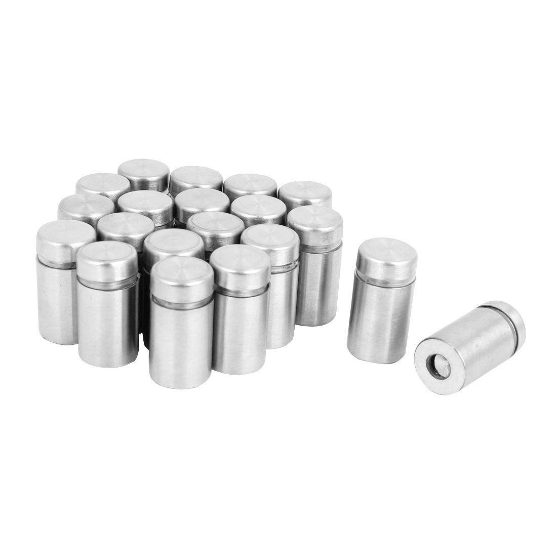 20 Pcs Stainless Steel Advertising Nails Glass Wall Connector Standoff 12mmx25mm