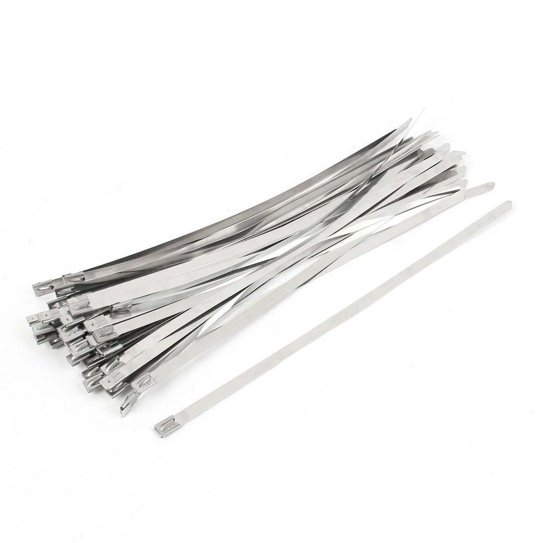 50Pcs Stainless Steel Coated Zip Tie 300x8mm for Pipe Hose Cable